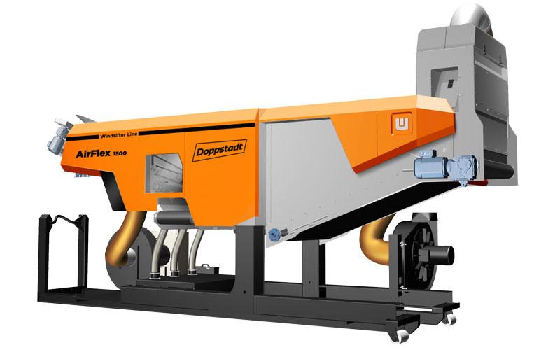 Windsichter Airflex 1500 – Trennverfahren über Dichte & Gewicht von Stoffen