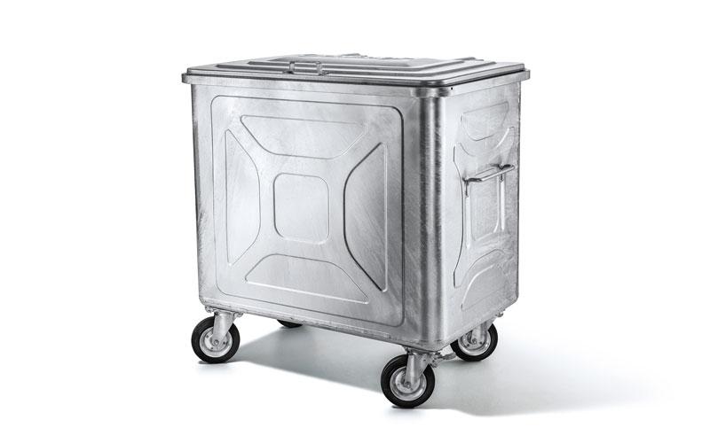 4-Rad Stahlcontainer in verschiedenen Größen