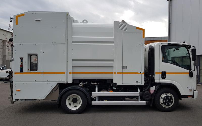Mobile Waschanlage MOWA L4000 für die Mülltonnenreinigung