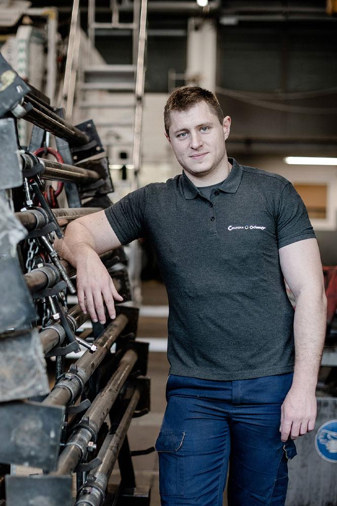 Kevin Sautebin, Technicien de service